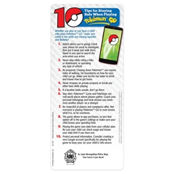 10 Tips for Staying Safe When Playing Pokemon Go (tm) EZ-Stick Glancer Pokemon Go Safety, Pokemon Safety Tips, Pokeman Go Safety Tips, How to Play It Safe with Pokemon Go, Pokemon Go Kids Safety Tips, E-Z Stick Glancer, Positive Promotions, The Positive Line