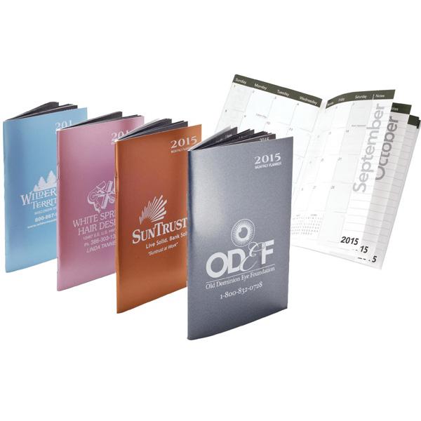 Monthly Pocket Calendar in Metallic Colors