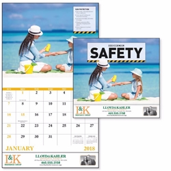 Custom Safety Wall Calendar | Care Promotions