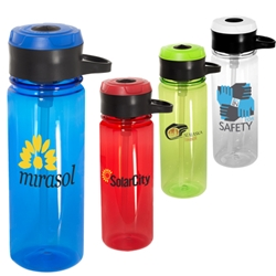 24 oz. Tritan™ Bottle with Hook  Waterbottle, with hook, Water Bottle, Low Minimum, 24 oz, bottle, imprinted, with logo,