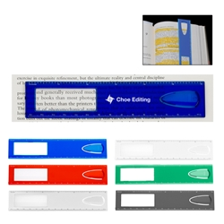 "6"" Magnifier Ruler With Bookmark 6"" Magnifier Ruler With Bookmark, 6"" Magnifier, Ruler, with, Bookmark, Imprinted, Personalized, Promotional, with name on it, giveaway,"
