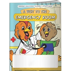 A Visit to the Emergency Room Coloring Book A Visit to the Emergency Room Coloring Book, BetterLifeLine, BetterLife, Education, Educational, information, Informational, Wellness, Guide, Brochure, Paper, Low-cost, Low-Price, Cheap, Instruction, Instructional, Booklet, Small, Reference, Interactive, Learn, Learning, Read, Reading, Health, Well-Being, Living, Awareness, ColoringBook, ActivityBook, Activity, Crayon, Maze, Word, Search, Scramble, Entertain, Educate, Activities, Schools, Lessons, Kid, Child, Children, Story, Storyline, Stories, Injury, Accident, Hurt, First Aid, Preschool, Grade School, Elementary, Imprinted, Personalized, Promotional, with name on it, Giveaway,