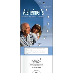 Alzheimers: Awareness, Symptoms, Treatment Pocket Slider BetterLifeLine, BetterLife, Education, Educational, information, Informational, Wellness, Guide, Brochure, Paper, Low-cost, Low-Price, Cheap, Instruction, Instructional, Booklet, Small, Reference, Interactive, Learn, Learning, Read, Reading, Health, Well-Being, Living, Awareness, PocketSlider, Slide, Chart, Dial, Bullet Point, Wheel, Pull-Down, SlideGuide, Drugs, Alcohol, Smoke, Tobacco, Smoking, Cigarettes, Lungs, Cancer, Drinking, Drink, Booze, Liquor, Beer, Say No, DARE, SADD, MADD, Drunk, DUI, DWI, AA, Abuse, Addiction, Addict, Dependence, Rehab, Rehabilitation, Police, Withdrawal, Trafficking  Red Ribbon Week, Alcohol Awareness Month Ideas, College Student Health Giveaways,