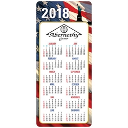 Americana 2018 E-Z 2 Stick Magnetic Calendar  Mailable Calendar, Direct Mail Calendar, Customer Calendar Stick Up, Wall Calendar, Planner, The Positive Line, Business Calendar, Office Calendar, Business Gifts, Corporate Gifts, Sales and Marketing, Sales Meetings, Giveaways, Promotional Calendars