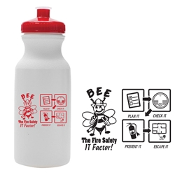 Bee the Fire Safety IT Factor! 20 oz Bike Bottle | Fire Prevention Week Giveaways | Care Promotions