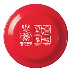 BEE the Fire Safety IT Factor! Small Flyer Small Discus, Small, Flyer, Fire Safety, Fire Prevention, BEE the Fire Safety IT Factor!, Small, High, Flyer, Imprinted, Personalized, Promotional, with name on it, giveaway,