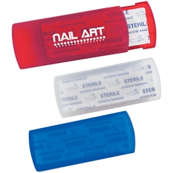 Bandages In Plastic Case Bandages In Plastic Case, Bandages, 5 pack, Plastic, Case, Imprinted, Personalized, Promotional, with name on it, giveaway,