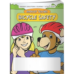 Barkley Teaches Bicycle Safety Coloring Book Barkley Teaches Bicycle Safety Coloring Book, Imprinted, Personalized, Promotional, with name on it, Giveaway, BetterLifeLine, BetterLife, Education, Educational, information, Informational, Wellness, Guide, Brochure, Paper, Low-cost, Low-Price, Cheap, Instruction, Instructional, Booklet, Small, Reference, Interactive, Learn, Learning, Read, Reading, Health, Well-Being, Living, Awareness, ColoringBook, ActivityBook, Activity, Crayon, Maze, Word, Search, Scramble, Entertain, Educate, Activities, Schools, Lessons, Kid, Child, Children, Story, Storyline, Stories, Safe, Safety, Protect, Protection, Hurt, Accident, Violence, Injury, Danger, Hazard, Emergency, First Aid