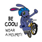 Be Cool! Wear a Helmet! Temporary Tattoo bicycle safety, safety promotional items, kids safety, bike safety, helmet safety, always wear a helmet, child safety, public safety, community affairs, community outreach