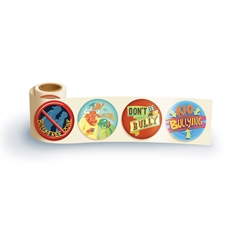 Bully Free Zone Theme Assortment Sticker Roll bully free, safety promotional items, kids safety, anti-bullying, bullying prevention month, child safety, public safety, community affairs, community outreach, school safety, bullying awareness