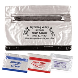 Clear Vinyl Pencil Pouch with Colored Trim pencil pouch, school supplies, promotional school supplies, back to school, school promotions, fire safety promotional items, promotional giveaways