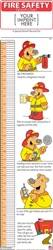 Fire Safety Childrens Growth Chart | Care Promotions