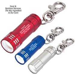 Food & Nutrition Services: The Key Ingredient To Our Care Design Mini Aluminum LED light with Key Clip Mini Aluminum LED Light With Key Clip, Food Services, Nutrition Services, Stock, Design, Mini, Aluminum, LED, Light, with, Key, clip, Imprinted, Personalized, Promotional, with name on it, giveaway,