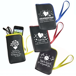 Healthcare & Recognition Stock Design Wrist Friendly Cell Phone, Electronics & Eyeglass Pouches  wrist, band, recognition, friendly, electronics, eyeglass holder, eyeglass, pouch, wallet, zippered, Imprinted, Personalized,