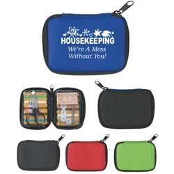 "Housekeeping: Were A Mess Without You! Design Sew Handy Deluxe Sewing Kit ""Sew"" Handy Deluxe Sewing Kit, Sew, Handy, Housekeeping,  Were A Mess Without You!, theme, design, slogan, Deluxe, Sewing, Kit, travel, Imprinted, Personalized, Promotional, with name on it, giveaway,"