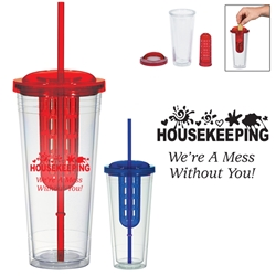 Housekeeping: Were A Mess Without You! 20 Oz. Double Wall Infusion Tumbler 20 Oz. Double Wall Infusion Tumbler, Housekeeping, Design, Stock, Housekeeping: Were A Mess Without You!, Double, Wall, Infusion, Tumbler, Fruit, Basket, Imprinted, Personalized, Promotional, with name on it, Gift Idea Tumbler, Healthy, Health, Flavor, Enhancing