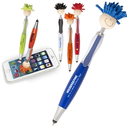 Housekeeping: Were A Mess Without You! MopTopper™ Stylus Pen  Housekeeing, Mop, Topper, Hair, Top, Smile, Pen, Stylus, Screen Cleaner, Pendant Pen, Pendant, Pen, Pens, Ballpoint, Aluminum, Imprinted, Personalized, Promotional, with name on it, giveaway, black ink