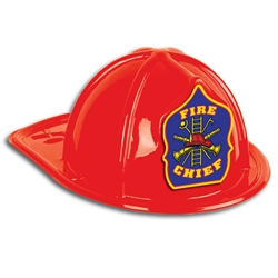 Stock & Imprinted Plastic Fire Hats Fire Hat, Imprinted, Kids, Plastic, Junior, Patriotic, USA Made, Red, Fire Prevention, Week,