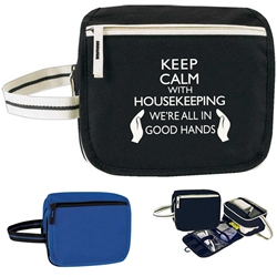 Keep Calm: With Housekeeping Were All In Good Hands! Horizon Travel Kit  Global, Horizon, Housekeeping, Toiletry, Economy, Zipper, Zippered, Travel, Pack, Waist, Bag, Kit, Promotional, Events, All Purpose, Imprinted, Reusable, Custom, Personalized, Sport, Pack, recognition,