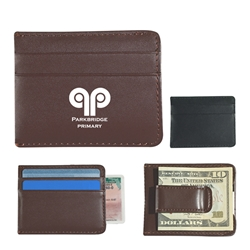 Money Clip Card Holder Money Clip Card Holder, Money, Clip, Holder, Leather, Like, Leatherette, Card, Wallet, Imprinted, Personalized, Promotional, with name on it, giveaway,