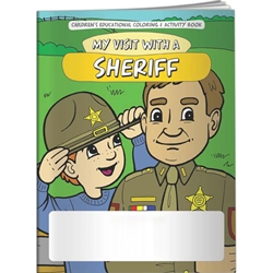 My Visit with a Sheriff Coloring Book My Visit with a Sheriff Coloring Book, BetterLifeLine, BetterLife, Education, Educational, information, Informational, Wellness, Guide, Brochure, Paper, Low-cost, Low-Price, Cheap, Instruction, Instructional, Booklet, Small, Reference, Interactive, Learn, Learning, Read, Reading, Health, Well-Being, Living, Awareness, ColoringBook, ActivityBook, Activity, Crayon, Maze, Word, Search, Scramble, Entertain, Educate, Activities, Schools, Lessons, Kid, Child, Children, Story, Storyline, Stories, Imprinted, Personalized, Promotional, with name on it, Giveaway,