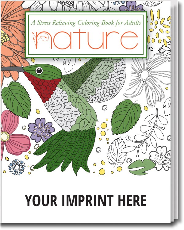 Nature stress relieving coloring book for adults Nature coloring books for adults