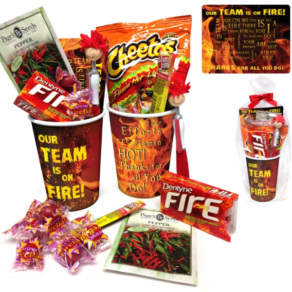 Our Team is On Fire! Treat Cup Gift Set | Employee Appreciation Gifts | Care Promotions