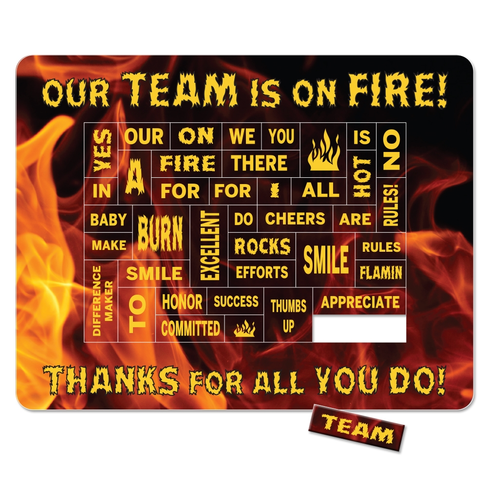 Quot Our Team Is On Fire Quot Theme Punch Out Praise Picture Frame