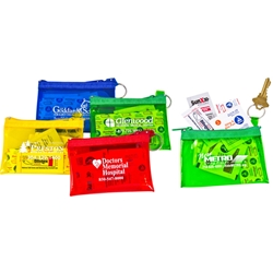 Outdoor Life First Aid Kit Outdoor Life First Aid Kit, Outdoor, Life, First Aid, Kit, Pouch, Purse, Zip, Imprinted, Personalized, Promotional, with name on it, giveaway