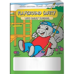 Playground Safety with Bailey Squirrel Coloring Book Playground Safety with Bailey Squirrel Coloring Book, BetterLifeLine, BetterLife, Education, Educational, information, Informational, Wellness, Guide, Brochure, Paper, Low-cost, Low-Price, Cheap, Instruction, Instructional, Booklet, Small, Reference, Interactive, Learn, Learning, Read, Reading, Health, Well-Being, Living, Awareness, ColoringBook, ActivityBook, Activity, Crayon, Maze, Word, Search, Scramble, Entertain, Educate, Activities, Schools, Lessons, Kid, Child, Children, Story, Storyline, Stories, Playing, Friends, Bully, Bullying, Safe, Protect, Elementary, Preschool, Grade School, Imprinted, Personalized, Promotional, with name on it, Giveaway,