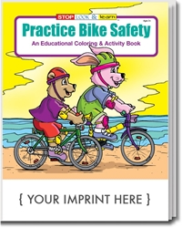 Practice Bike Safety Coloring & Activity Book promotional coloring book, bike safety giveaways, bike safety promotional items, bike safety month promotional items, public safety promotional items, bike safety coloring book, bike safety promotional products, police department giveaways