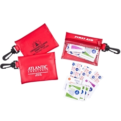 Red First Aid Pouch w/Clip Red First Aid Pouch w/Clip, Red, First, Aid, Pouch, Clip, with, First Aid, Imprinted, Personalized, Promotional, with name on it, giveaway