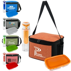 Ridge Lunch Cooler, Lunch Container, & Infuser Bottle Promo Bundle Gift Set Lunch Bag Gift Set, Lunch Bag Bottle Dish Set, Lunch Bag Promo Bundle, Imprinted, With Name On It, With Logo,