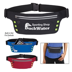 Running Belt With Safety Strip And Lights Sports Running Pack, Running Bag, Walking Pack, Fanny, Walking, Running, Pack, Imprinted, Personalized, Promotional, with name on it