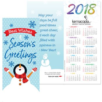 Seasons Greetings 2018 Holiday Greeting Card Calendar | Care Promotions