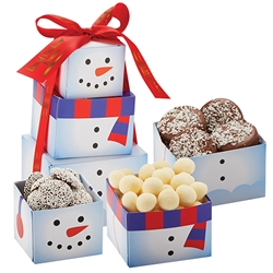 Snowman Holiday Treat Tower | Care Promotions