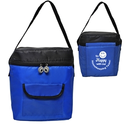 So Happy With Our Emergency Nurses! Smile Lunch Bag    lunch cooler bag, lunch bag, cooler bag, promotional lunch bag, promotional products, employee appreciation, employee recognition, smiley face