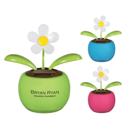 Solar Powered Dancing Flower Solar Powered Dancing Flower, Solar Powered, Dancing, Flower, Imprinted, Personalized, Promotional, with name on it, giveaway,