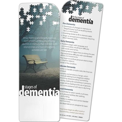Stages of Dementia Bookmark Stages of Dementia Bookmark, BetterLifeLine, BetterLife, Education, Educational, information, Informational, Wellness, Guide, Brochure, Paper, Low-cost, Low-Price, Cheap, Instruction, Instructional, Booklet, Small, Reference, Interactive, Learn, Learning, Read, Reading, Health, Well-Being, Living, Awareness, Book, Mark, Tab, Marker, Bookmarker, Page holder, Placeholder, Place, Holder, Card, 2-side, 2-sided, Page, Aging, Elderly, Elder, Old, Retirement, Senior, Mental, Mind, Instability, Stability, Depression, Memory, Therapy, Therapist, Psychology, Psych, Psychiatrist, Psychologist, Stress, Brain, Dementia, Alzheimers, Memory, Mind, Loss, Forgetfulness, Confusion, Forget, Brain, Neurodegenerative, Degenerate, Imprinted, Personalized,