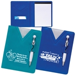 Swanky Scrubs Notebook with Stethoscope Pen
