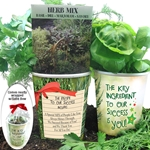 The Key Ingredient To Our Success Is You! Herb Mix Planter Set