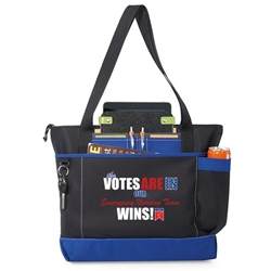 The Votes Are In...Our Emergency Nursing Team Wins! Avenue Business Tote   Emergency Nurses Theme, Business Tote, Work Tote, Convention Bag, tote with Water Bottle Holder, Pocket, Basic, Low Price, Promotional, Imprinted, with name on it, logo, custom bag, gift bag, baby bag, diaper bag, fashion bag