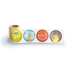Too Smart to Start Theme Assortment Sticker Roll drug free, safety promotional items, kids safety, anti-drug,red ribbon week, child safety, public safety, community affairs, community outreach, tobacco prevention, no smoking, anti cigarettes, alcohol, dont drink