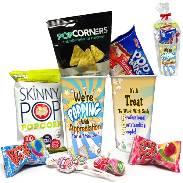We're Popping with Appreciation for All You Do! Snack Cup Gift Set | Employee Appreciation Ideas | Care Promotions