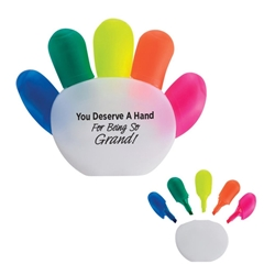 You Deserve A Hand For Being So Grand! Handy Highlighter Handy Highlighter, Highlighter, Multi-Highlighter, Set, Imprinted, Personalized, Promotional, with name on it, giveaway,