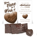 """Your Care Is A Work of Heart"" Godiva Chocolate Mini Care Package"