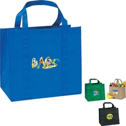 eGreen Grocery Jumbo Tote Grocery bag, Giveaway, Budget Friendly, Economical, Cheap, Promotional, Events, Trade Show Bags, Health Fair, Non Woven, Polypropylene, All Purpose, Imprinted, Tote, eGREEN, Eco-Friendly, Supermarket, Reusable,