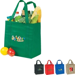 eGreen Grocery Tote Grocery bag, Giveaway, Budget Friendly, Economical, Cheap, Promotional, Events, Trade Show Bags, Health Fair, Non Woven, Polypropylene, All Purpose, Imprinted, Tote, eGREEN, Eco-Friendly, Supermarket, Reusable,