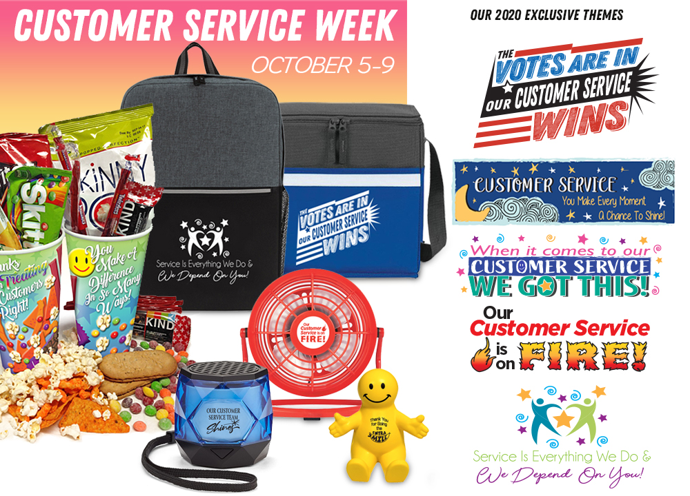 Customer Service Week Appreciation Themes 2019 | Care Promotions