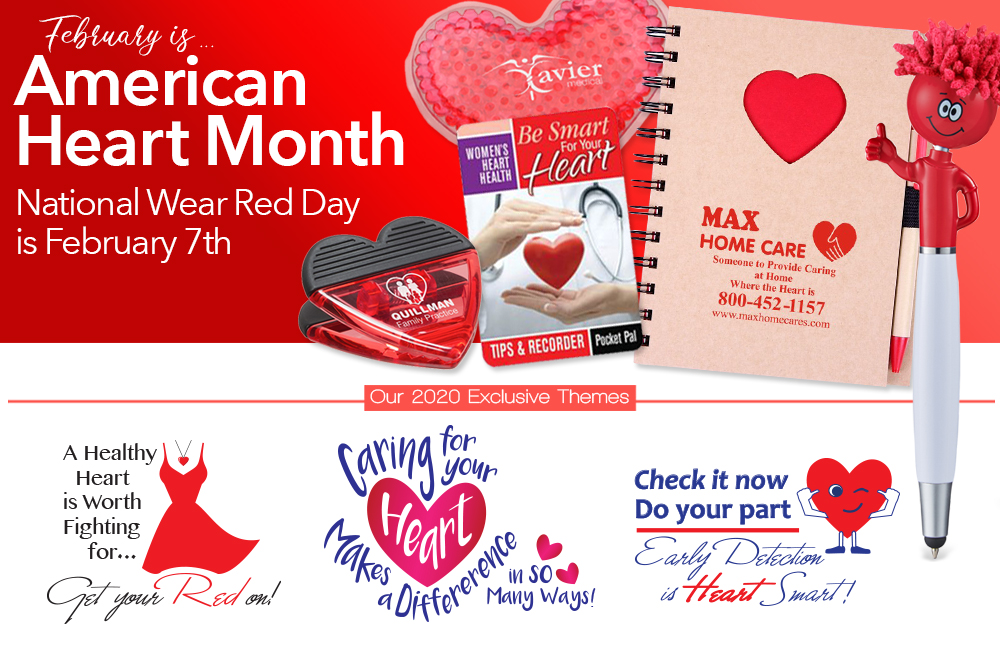 American Heart Month Merchandise | Women's Heart Health Promotional Products | Care Promotions